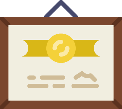 GIcon of a certificate representing a bonus chapter to help readers build their website traffic